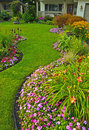 Yard Manicured Photographie stock libre de droits