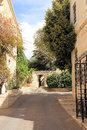 Yard the in old city jerusalem israel Royalty Free Stock Photography
