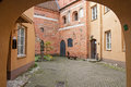 The yard of the old city vilnius lithuania Stock Photos