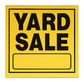 Yard sale sign yellow and black with copy space isolated on a white background Stock Images