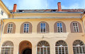 Yard of Uzhhorod Castle in Ukraine Royalty Free Stock Photo