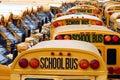 Yarda del autobús escolar Fotografía de archivo