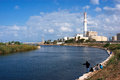 The Yarkon River in Tel Aviv Royalty Free Stock Photo