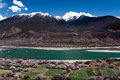 The Yarlung Zangbo River both banks scenery Royalty Free Stock Images