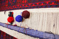 Yarn on carpet various weaving handmade Royalty Free Stock Photos
