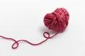 Yarn heart shaped red woolen Stock Image