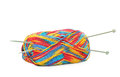 Yarn and knitting needles Royalty Free Stock Image
