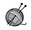Yarn and needles Royalty Free Stock Photo
