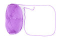 Yarn skein of purple color Royalty Free Stock Photo