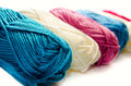 Yarn on a white background Royalty Free Stock Photography