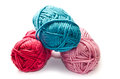 Yarn on a white background Royalty Free Stock Photos