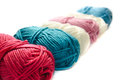Yarn on a white background Royalty Free Stock Photo