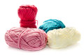 Yarn on a white background Royalty Free Stock Image