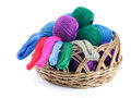 Yarns of different colors for embroidery Royalty Free Stock Photography