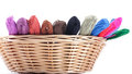Yarns of different colors for embroidery Stock Photography