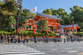 Yasaka shrine in Kyoto, Japan Stock Photos
