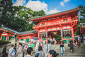 Yasaka shrine kyoto japan many people are visiting at also known as gion in Stock Images