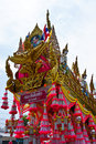 Yasothon rocket parade in the country of thailand Stock Photo