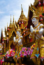 Yasothon rocket parade in the country of thailand Royalty Free Stock Image