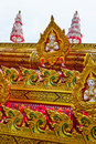 Yasothon rocket parade in the country of thailand Royalty Free Stock Photo