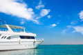 Yatch in beautiful red sea Stock Image