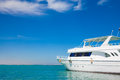 Yatch in beautiful red sea Stock Photos