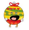 Yawning christmas tree toy cartoon