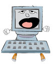 Yawning Computer cartoon
