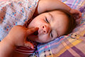 Yawning sleeping girl Royalty Free Stock Photo
