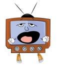 Yawning Tv cartoon