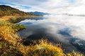 Yazevoe lake in altai mountains kazakhstan early morning on Stock Images