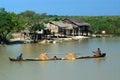 ycie codzienne w kanale blisko inle jeziora myanmar Fotografia Royalty Free