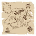 Ye Olde Pirate Treasure Map Stock Image