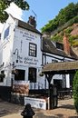 Ye olde trip to jerusalem inn situated at the foot of castle rock reputed be the oldest drinking establishment in england Stock Photography
