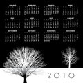 Year 2010 calendar  Royalty Free Stock Image