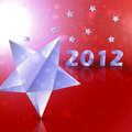 Year 2012  stars vector background Stock Images