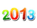 Year 2013 colorful drawing Stock Images