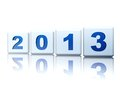 Year 2013 in cubes Royalty Free Stock Photo
