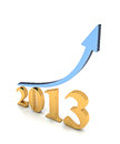 Year 2013 Growth Chart Royalty Free Stock Images