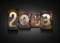 Year 2013 letterpress. Stock Photography