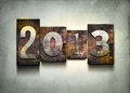 Year 2013 letterpress. Royalty Free Stock Images
