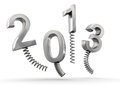 Year 2013 new year celebration Royalty Free Stock Image