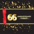 66 year anniversary logo template vector