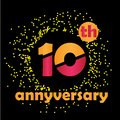 10 Year Anniversary Vector Template Design Illustration - Vector