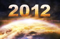 Year of the apocalypse alien armageddon asteroid astronomy Royalty Free Stock Photo