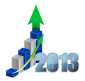 Year Business graph Stock Images