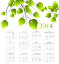 Year calendar illustration background Stock Images