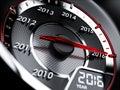 2016 year car speedometer