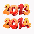 Year d and all elements are layered separately in vector file easy editable Stock Images