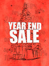 Year end sale red background discount sales Stock Image